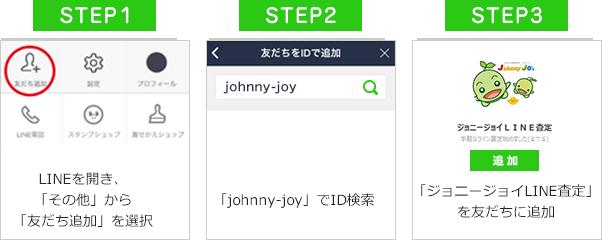 ID検索によるLINE登録手順
