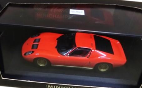 ミニチャンプス 1/43 ランボルギーニ ミウラ 赤 買取,ミニチャンプス ミニカー 買取,ランボルギーニ ミウラ ミニカー買取,おもちゃ 買取,フィギュア 買取,