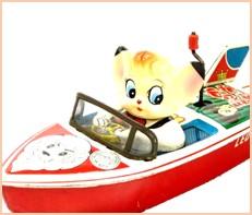 ジャングル大帝 レオ モーターボート ブリキ 浅草玩具