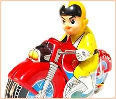 スーパージェッター オートバイ ブリキ 浅草玩具