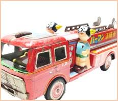 パーマンの消防車 ブリキ 小学館