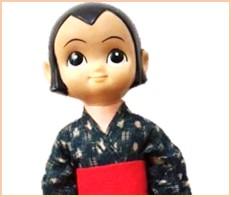 少年忍者風のフジ丸 ミカちゃん ソフビ 浅草玩具